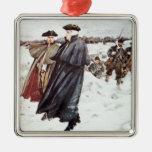 George Washington y barón von Steuben Ornamento Para Arbol De Navidad