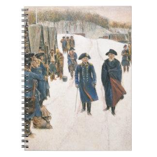 George Washington y barón von Steuben Libros De Apuntes