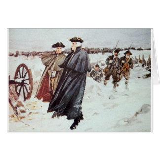 George Washington y barón von Steuben Tarjeta De Felicitación