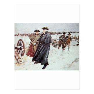 George Washington y barón von Steuben Tarjeta Postal