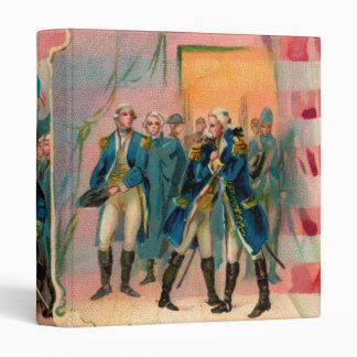 George Washington y carpeta de las tropas
