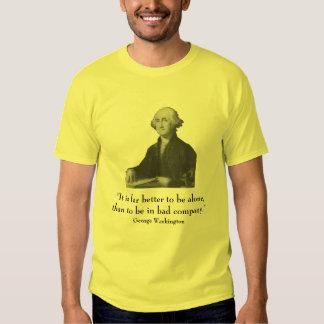 George Washington y cita Remera