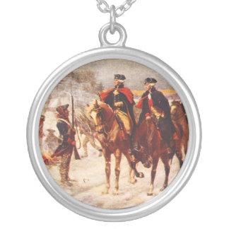 George Washington y Lafayette en la fragua del Collar Plateado