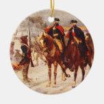 George Washington y Lafayette en la fragua del Adorno Redondo De Cerámica