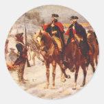 George Washington y Lafayette en la fragua del Pegatina Redonda