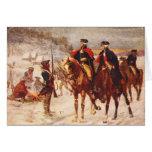 George Washington y Lafayette en la fragua del val Felicitacion