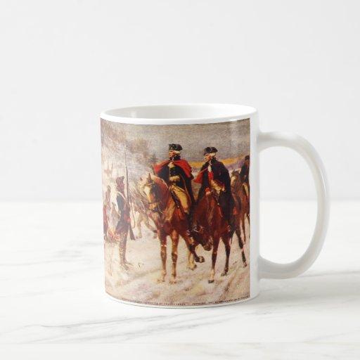 George Washington y Lafayette en la fragua del val Taza De Café