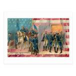 George Washington y postal del vintage de las trop
