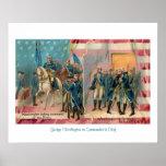 George Washington y poster de las tropas