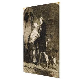 George Washington y su madre Lona Envuelta Para Galerias