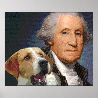 """George Washington y su perro """"belleza de la libert Posters"""