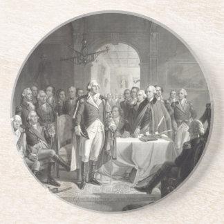 George Washington y su práctico de costa de los ge Posavasos Personalizados
