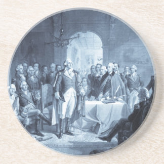 George Washington y su práctico de costa de los ge Posavasos Cerveza