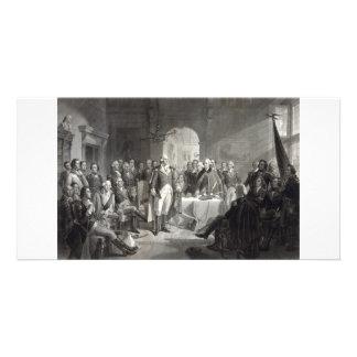 George Washington y su tarjeta del colector de los Plantilla Para Tarjeta De Foto
