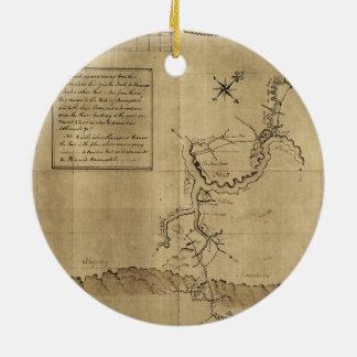 George Washington's Journal to the Ohio 1754 Ceramic Ornament