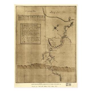 George Washington's Journal to the Ohio 1754 Postcard