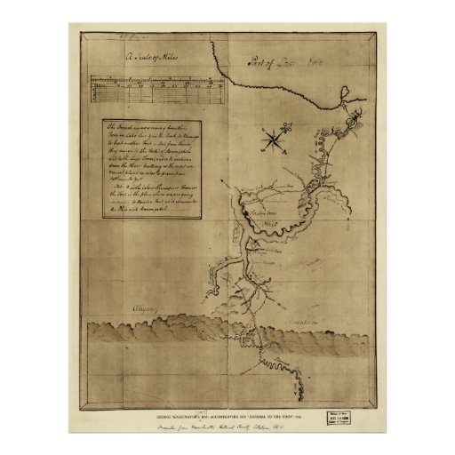 George Washington's Journal to the Ohio 1754 Poster