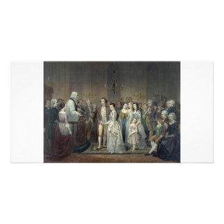 George Washington's Wedding collector photo card