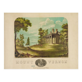 George Washinton's Home Mount Vernon by F. Collins Postcard