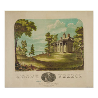 George Washinton's Home Mount Vernon by F. Collins Poster