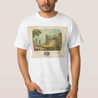 George Washinton's Home Mount Vernon by F. Collins T-Shirt