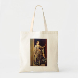 George Watts:Lady Margaret Beaumont & her Daughter Canvas Bag