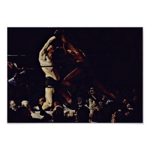 George Wesley Bellows - Both are club members Poster