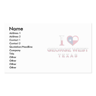 George West, Texas Business Card Template