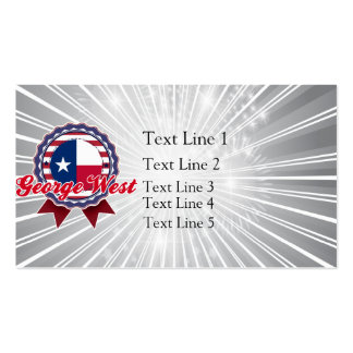 George West, TX Business Card Template