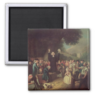 George Whitefield preaching 2 Inch Square Magnet