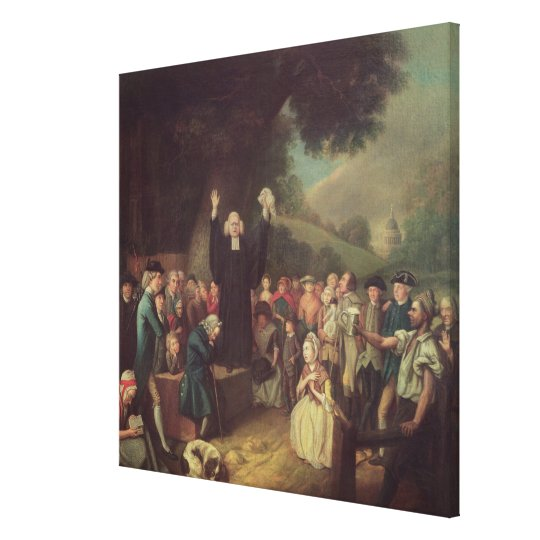 George Whitefield preaching Canvas Print