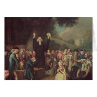 George Whitefield preaching Card