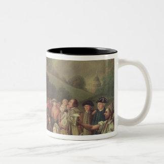 George Whitefield preaching Two-Tone Coffee Mug
