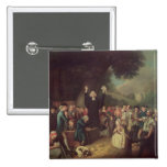 George Whitefield preaching Pinback Button