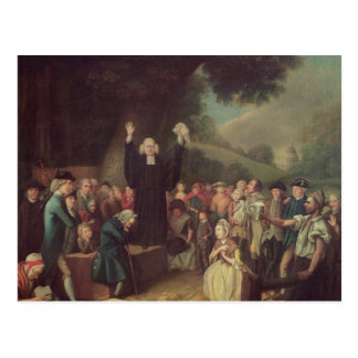 George Whitefield preaching Postcard