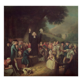 George Whitefield preaching Poster