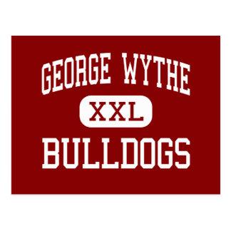 George Wythe - dogos - alto - Richmond Virginia Tarjeta Postal