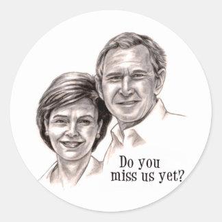 George y Laura Pegatina Redonda