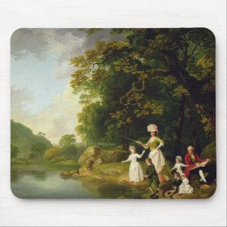 George y Maria Browne con su niño de cinco anciano Tapete De Ratones