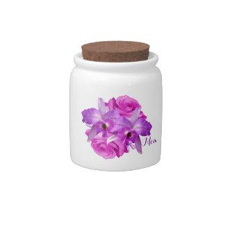 Georgeous Floral Candy Money Bits & Pieces Jar