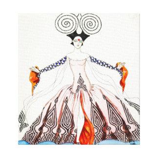 Georges Barbier Art Deco Fashion Canvas Print