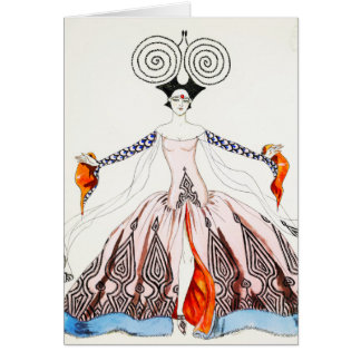 Georges Barbier Art Deco Fashion Greeting Card