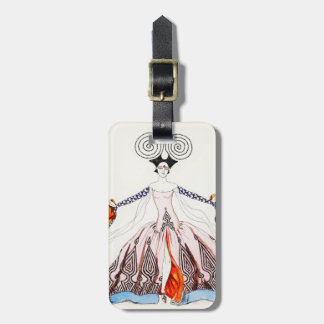 Georges Barbier Art Deco Fashion Luggage Tag