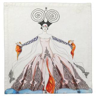 Georges Barbier Art Deco Fashion Napkins