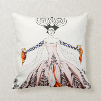 Georges Barbier Art Deco Fashion Pillow