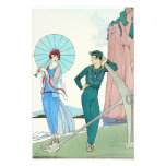 Georges Barbier Lady at the Beach Print
