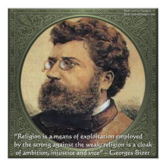 Georges Bidet Religion Exploits Quote Poster
