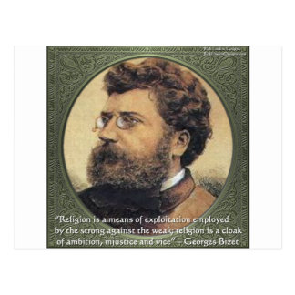 Georges Bizet Religion Shame Quote Gifts & Cards
