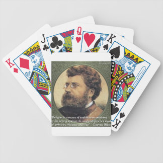 Georges Bizet Religion Shame Quote Gifts & Cards Bicycle Playing Cards