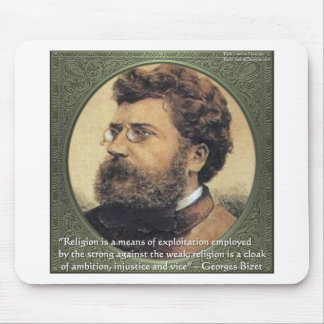 Georges Bizet Religion Shame Quote Gifts & Cards Mouse Pad